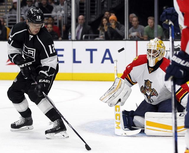 Slovenský hokejista Marián Gáborík (Los Angeles Kings) počas zápasu NHL s Floridou Panthers