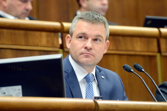 Na snímke predseda NR SR Peter Pellegrini (Smer-SD)