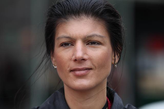 Na snímke nemecká politička, publicistka a ekonómka Sahra Wagenknechtová