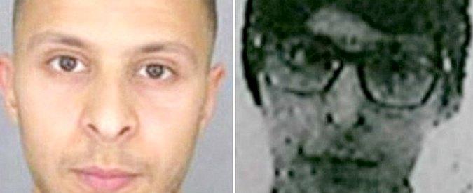 Na fotografii vpravo je najnovšia podoba Salaha Abdeslama, ktorú nasnímali kamery v blízkosti Bruselu