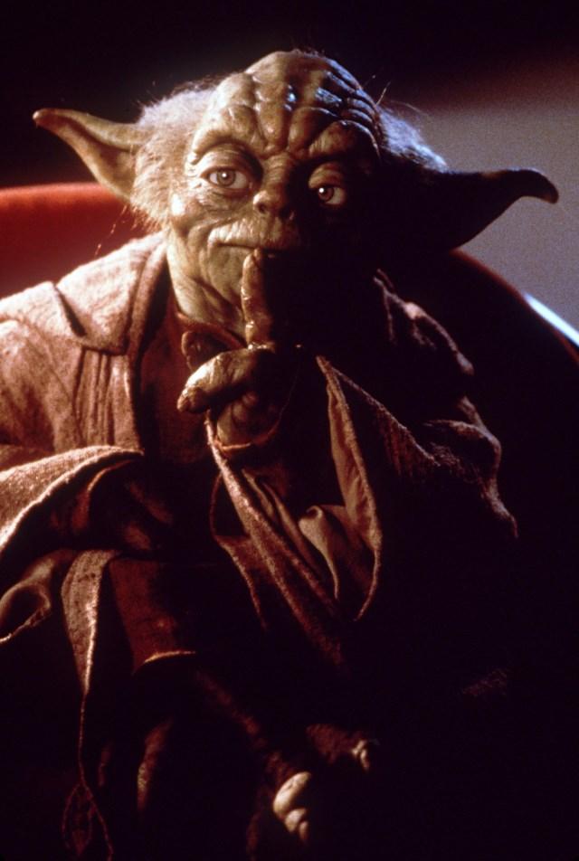 Na snímke postava z kultového filmu Star Wars majster Yoda