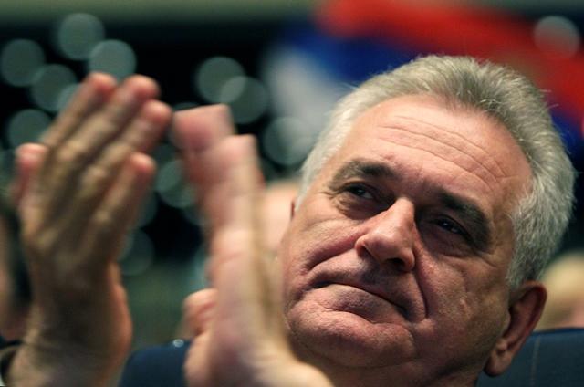 Na snímke srbský prezident Tomislav Nikolič