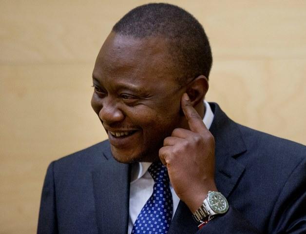 Na snímke kenský prezident Uhuru Kenyatta