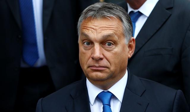 Na snímke maďarský premiér Viktor Orbán