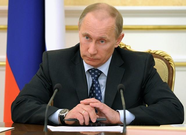 Na snímke ruský premiér Vladimir Putin