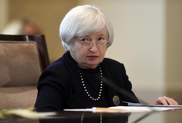 Na snímke šéfka americkej centrálnej banky FED Janet Yellenová.
