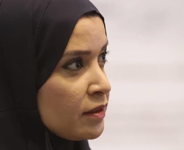 Na snímke Amal al-Kubaisí šéfka parlamentu v Spojených arabských emirátoch
