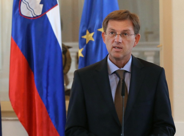 Na snímke slovinský premiér Miro Cerar