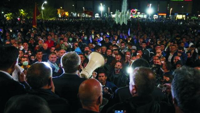 Na snímke účastníci demonštrácie