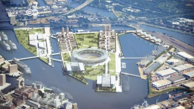 Takto mal vyzerať olympijský areál v Hamburgu v roku 2024