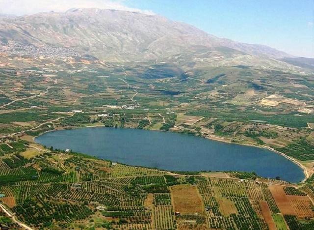 Na snímke kráterové jazero Ram na severovýchode Golanských výšin, jeden zo zdrojov vody pre územie