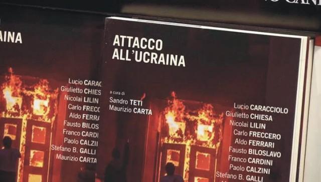 """Talianske vydavateľstvo Sandro Teti uviedlo knihu Maurizia Cartu aSandra Tetiho """"Útok na Ukrajinu"""""""