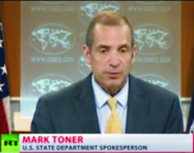 Na snímke tlačoví hovorca amerického ministerstva zahraničia Mark Toner