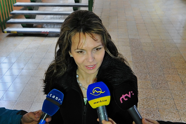 Na snímke opozičná poslankyňa Helena Mezenská (OĽaNO). Foto: Oliver Ondráš