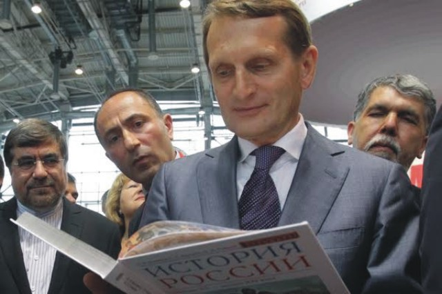 Predseda ruskej Štátnej dumy a šéf Ruskej historickej spoločnosti Sergej Naryškin