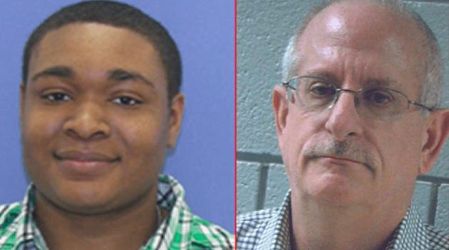 Na snímke William Byers-Augusta a Ira Task, ktorí sú obvinení zo znásilnenia 6-ročného chlapca a šírenia detskej pornografie