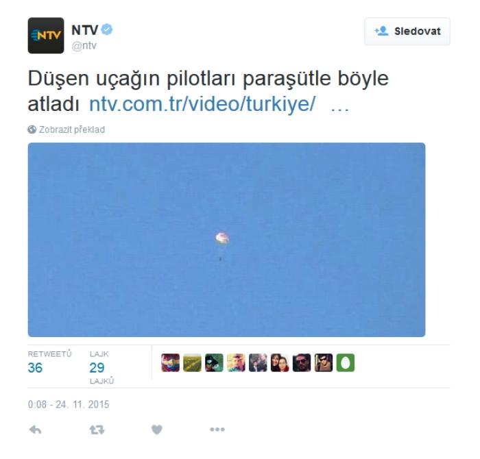 Ruskí piloti sa katapultovali sú nažive a dopadli na sýrske územie