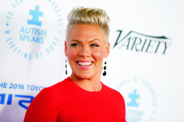 Americká speváčka Pink (vlastným menom Alecia Mooreová)