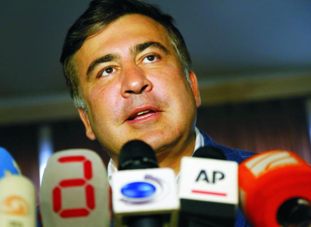 Na archívnej snímke Michail Saakašvili