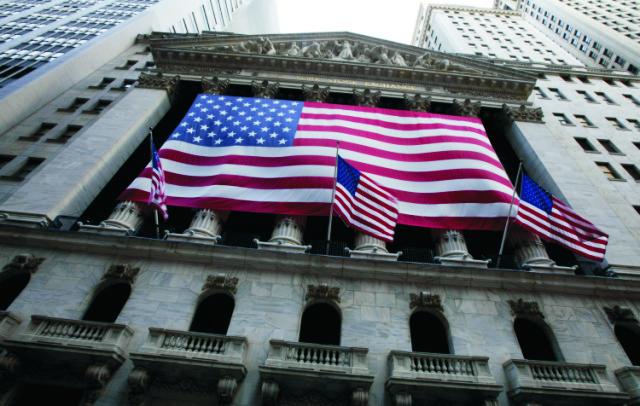 Sídlo burzy cenných papierov na Wall Street v  New Yorku
