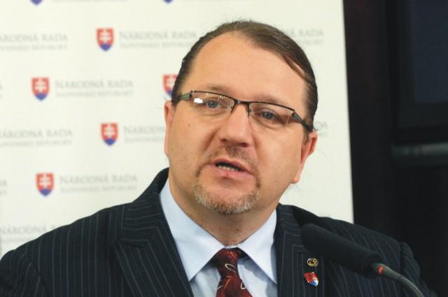 Na snímke poslanec Európskeho parlamentu Branislav Škripek.  Foto: Štefan Puškáš