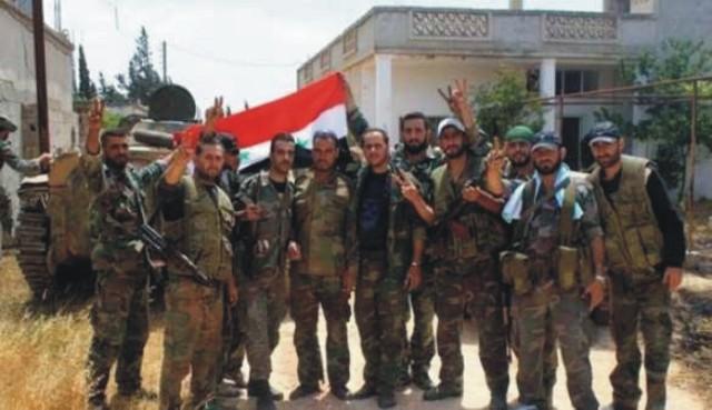 Na snímke vojaci sýrskej armády