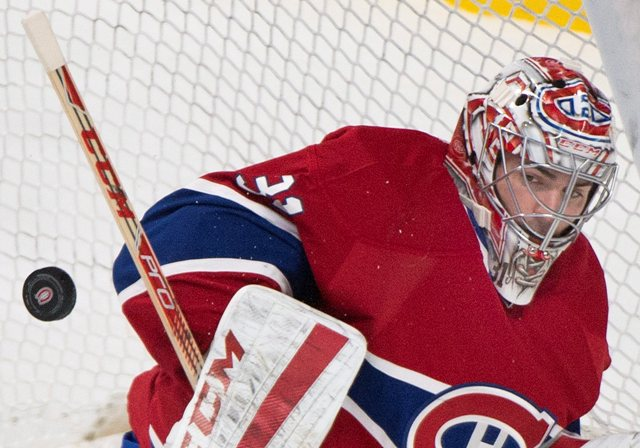 Na snímke brankár Montrealu Canadiens Carey Price