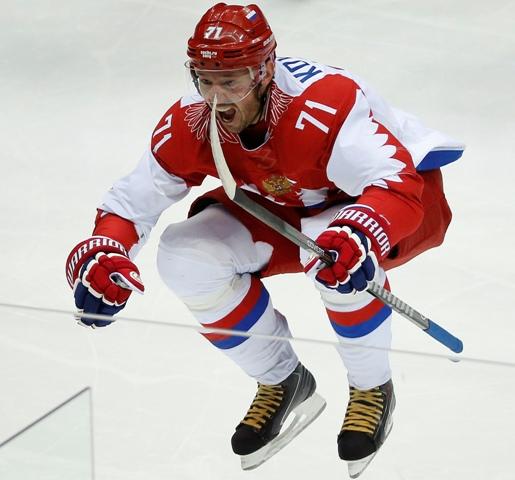 Na snímke hokejista Iľja Kovaľčuk