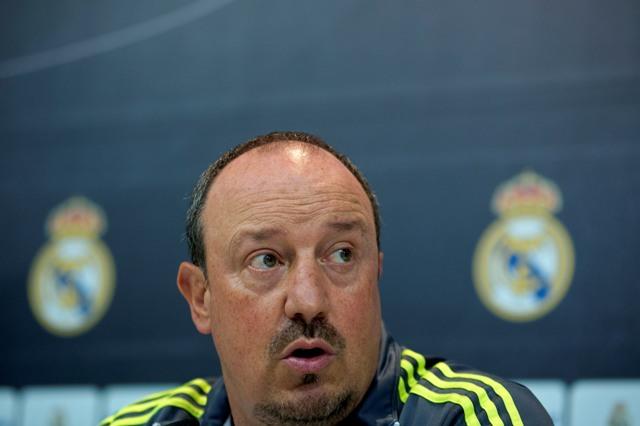 Na snímke tréner Realu Madrid Rafael Benitez