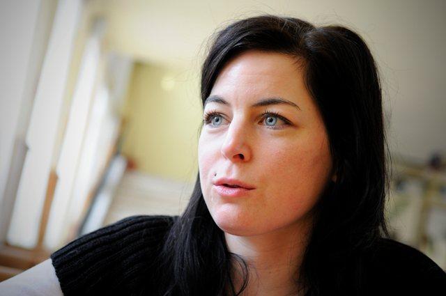 Na snímke učiteľka Základnej školy v Dobšinej a spoluautorka projektu Detstvo deťom Erika Polgáriová