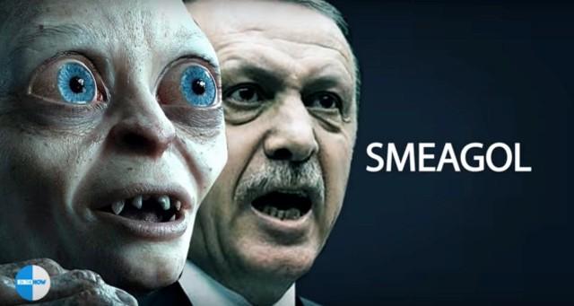 Z urážky prezidenta sa obviňuje lekár Bilgin Čiftči, ktorý umiestnil na svojej stránke na Facebooku niekoľko fotografií Erdogana a Gluma s rovnakými výrazy údivu a nadšenia na tvári