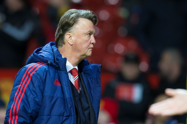 Na snímke tréner Manchesteru United  Louis van Gaal