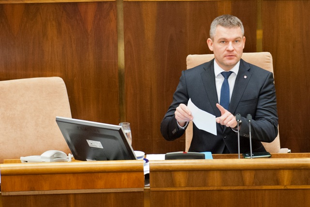 Na ilustračnej snímke predseda NR SR Peter Pellegrini