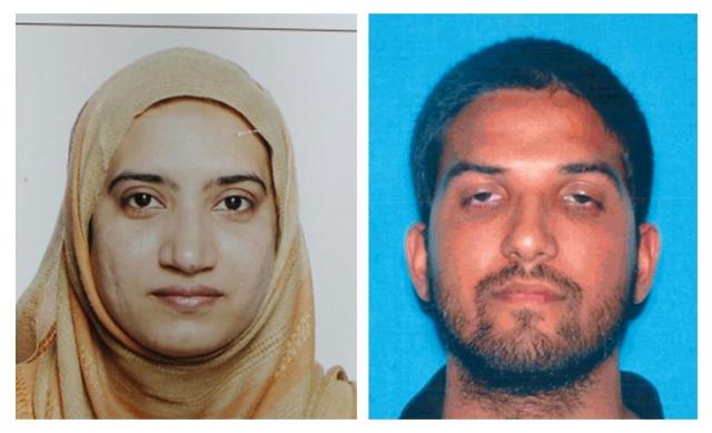 Na nedatovaj kombosnímke FBI a polície sú Pakistanka Tashfeen Maliková a jej manžel  manželom Syed Farook