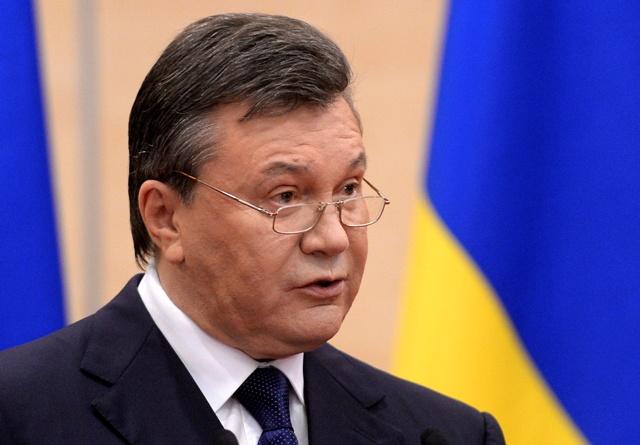 Na snímke bývalý ukrajinský prezident Viktor Janukovyč