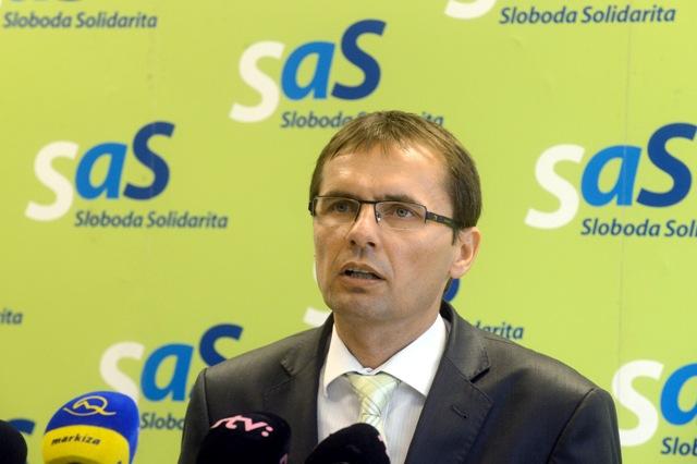 Na snímke poslanec NR SR za SaS Ľubomír Galko