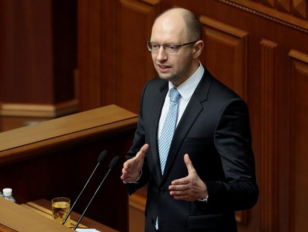Na snímke ukrajinský premiér Arsenij Jaceňuk