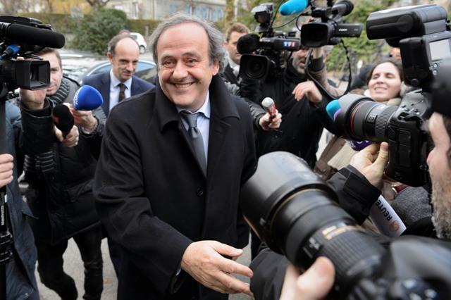 Na snímke prezident Európskej futbalovej únie (UEFA) Michel Platini
