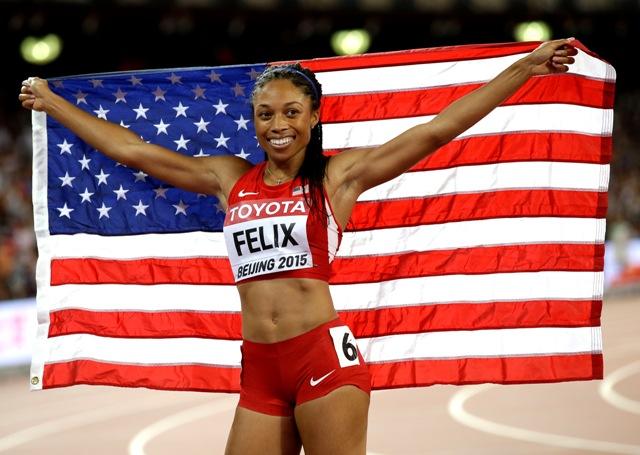 Na snímke americká bežkyňa Allyson Felixová