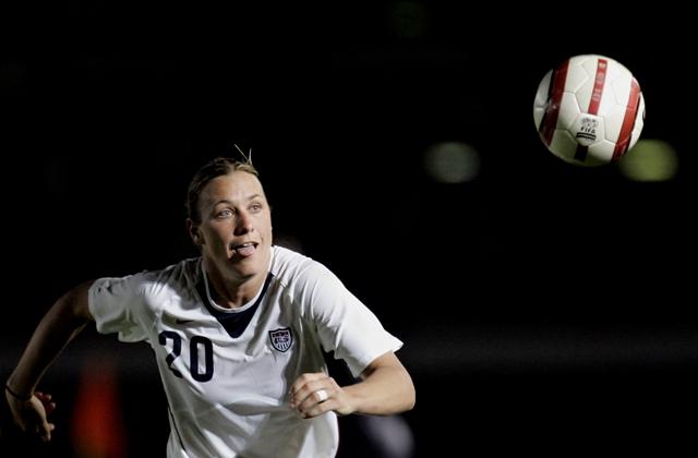 Na snímke americká futbalistka Abby Wambachová