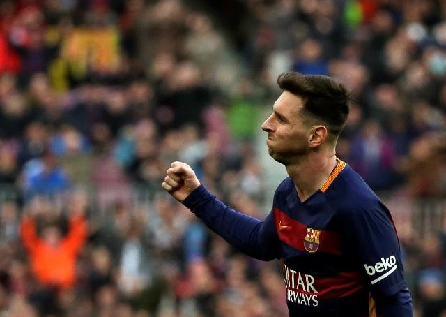 Na snímke hráč Barcelony Lionel Messi