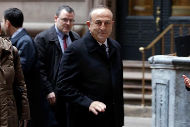 Na snímke turecký minister zahraničných vecí Mevlut Cavusoglu