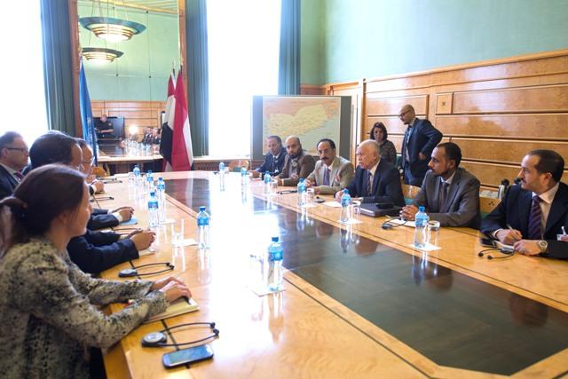Snímka zo Ženevských konzultácií o Jemenských mierových rozhovoroch