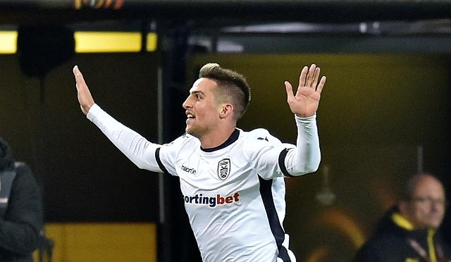 Na snímke slovenský stredopoliar PAOK Solún Róbert Mak