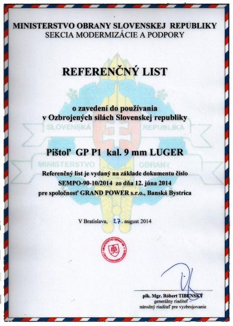 Referenčný list