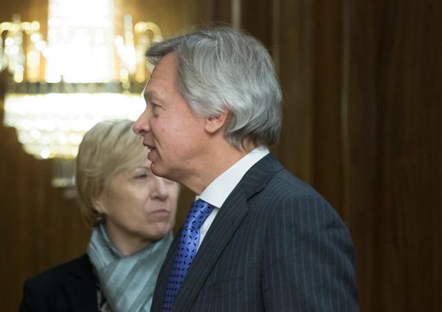 Na snímke predseda komisie pre medzinárodné veci ruského parlamentu Alexej Puškov