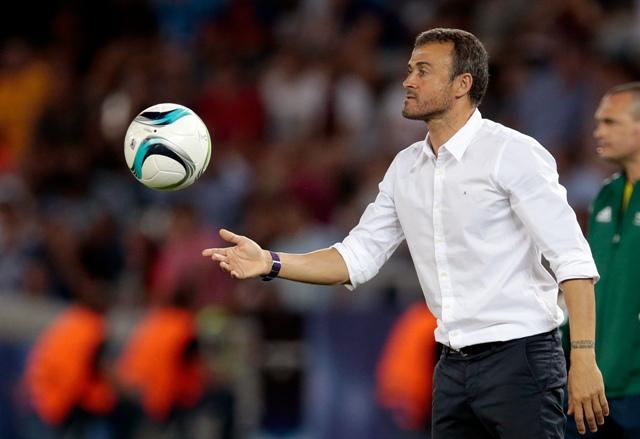 Na snímke tréner FC Barcelony Luis Enrique
