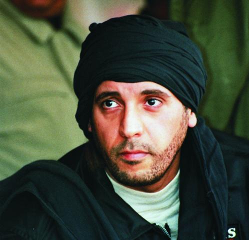 Na archívnej snímke 25. septembra 2011 je Hannibal Kaddáfí, syn vtedajšieho líbyjského vodcu Muammara Kaddáfího