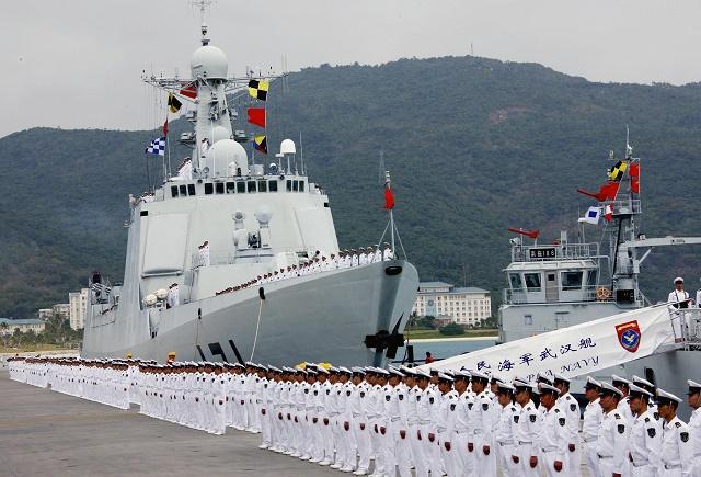 Nastúpené čínske námorné sily. Ilustračné foto