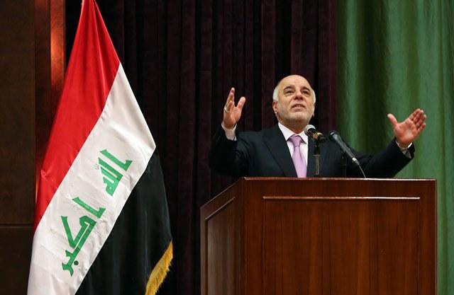 Na snímke iracký premiér Hajdar Abádí